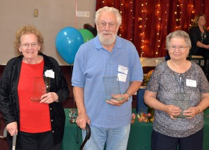 (L-R) Sharon Baity, Ron Evans and Adeline Woinarowicz